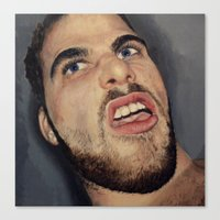 Self Portrait, Annoyance… Canvas Print