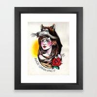 Chica Lobo Framed Art Print