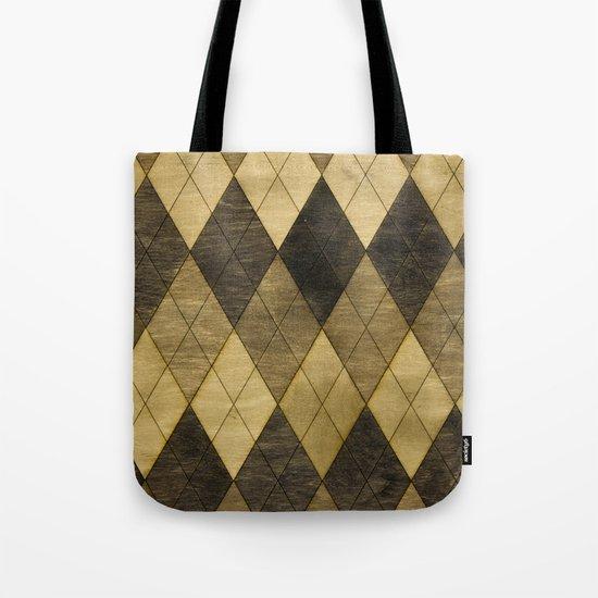 Wooden big diamond Tote Bag