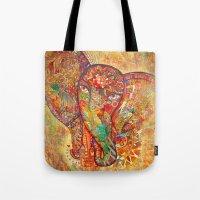 Red  Divine Runes Elepha… Tote Bag