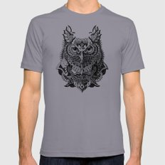 Century Owl Mens Fitted Tee Slate LARGE
