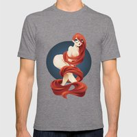 fire Mens Fitted Tee Tri-Grey SMALL