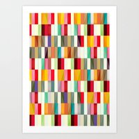 stripes Art Prints featuring Stripes by Danny Ivan