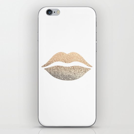 GOLD LIPS iPhone & iPod Skin