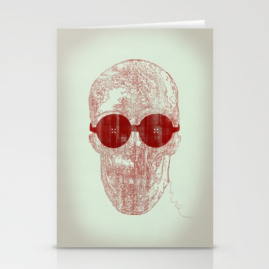 Unravel skull Stationery Card
