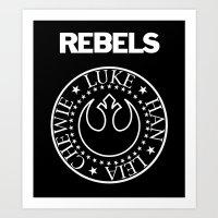 I Wanna Be a Rebel Art Print