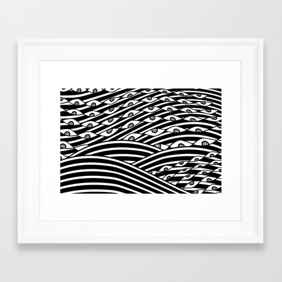 """Amok"" by Drew Litowitz Framed Art Print"