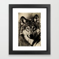 The Gray Framed Art Print