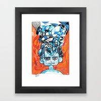 Denial process Framed Art Print