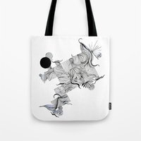 Abstract Line Drawing Tote Bag