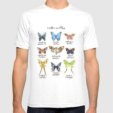 Exotic Moths Mens Fitted Tee White SMALL