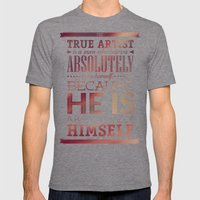 Be Yourself Mens Fitted Tee Tri-Grey SMALL