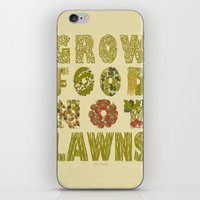 Grow Food Not Lawns iPhone & iPod Skin