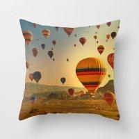 Sunrise In Cappadocia Throw Pillow