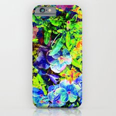 Neon Pansy Garden iPhone 6s Slim Case