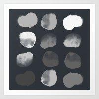 Slate Dots Art Print