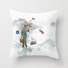 soccer man Throw Pillow