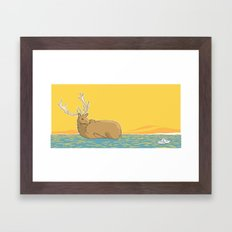 A deer (2) Framed Art Print