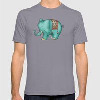 Elephant Mens Fitted Tee Slate SMALL