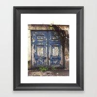 Paris Door at Jardin des Plantes Framed Art Print