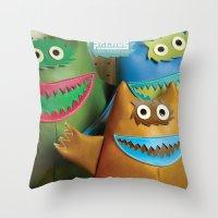 Alt. Album Cover: Green Naugahyde Throw Pillow