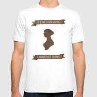 I Always Find Austen Too… Mens Fitted Tee White SMALL