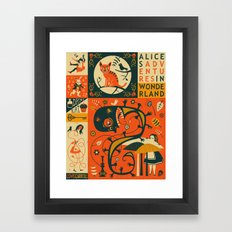 ALICE'S ADVENTURES IN WONDERLAND Framed Art Print