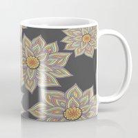 Floral Rhythm In The Dark Mug