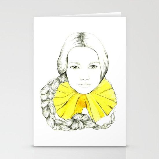 Frill Neck Lady Stationery Card