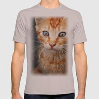 cat Mens Fitted Tee Cinder SMALL