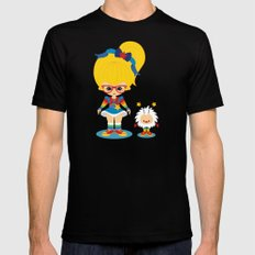 Rainbow Brite  Black Mens Fitted Tee SMALL