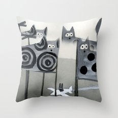 bunny's dream Throw Pillow