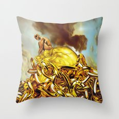 The Golden Child Throw Pillow