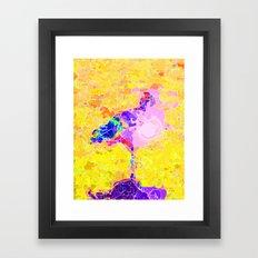 Magical Flamingo  Framed Art Print
