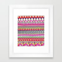 Tribal Lines Framed Art Print