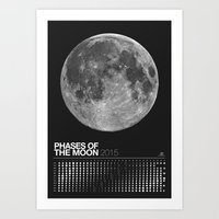 2015 Phases Of The Moon … Art Print