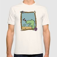 DINO BOY Mens Fitted Tee Natural SMALL