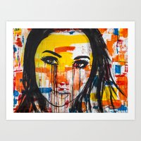 The unseen emotions of her innocence Art Print
