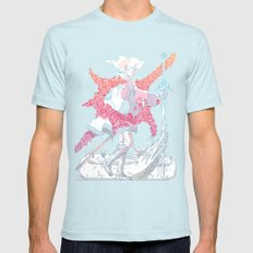 Fourth Grade Fantasy (proliferated) Mens Fitted Tee Light Blue SMALL