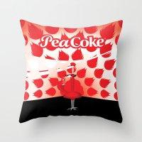 The PeaCoke Throw Pillow