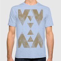 MOON MUSTARD Mens Fitted Tee Athletic Blue SMALL