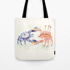Crabby Fight Tote Bag