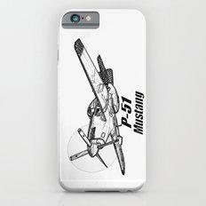 P 51 Mustang line drawing iPhone 6 Slim Case