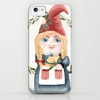 iPhone 5c Cases featuring Female Gnome by Fercute