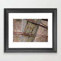 Barbed Wire Framed Art Print