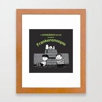 Frankensnoopie Framed Art Print