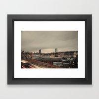 the city never sleeps:: nyc Framed Art Print