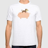 Baby Monkey Mens Fitted Tee Ash Grey SMALL