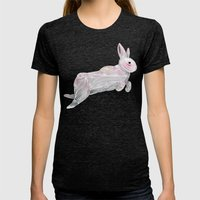 White Rabbit Womens Fitted Tee Tri-Black SMALL