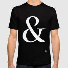 Turquoise's Ampersand Mens Fitted Tee Black SMALL